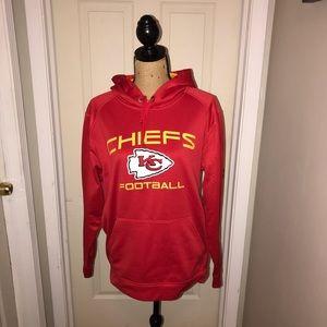 🌴 Majestic Kansas City Chiefs Red Hoodie Sz M